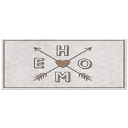 "Mosaic Decorative Vinyl Floor Mat ""Home"" - 2' x 5'"