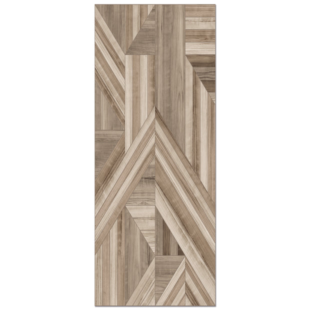 Marquetry Wood Pattern Decorative Vinyl Floor Mat - 2' x 5'