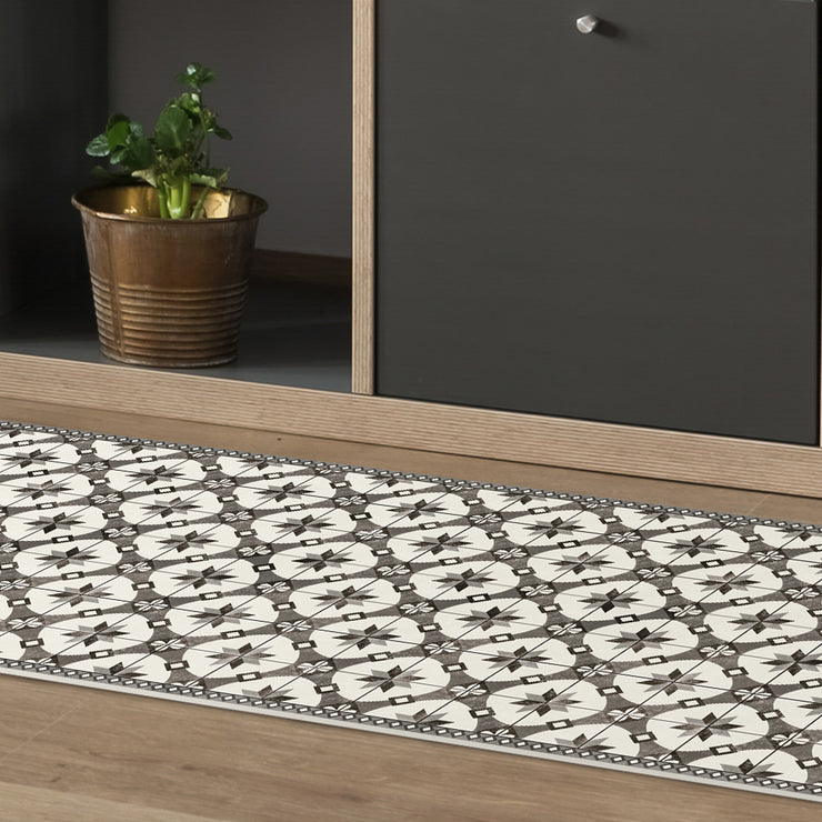 Ceramic Mosaic Tile Pattern Decorative Vinyl Floor Mat - 2' x 5'