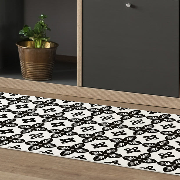 Mosaic Tile Indoor Decorative Vinyl Floor Mat - 2' x 5'