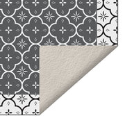 Ceramic Mosaic Tile Decorative Indoor Vinyl Floor Mat - 2' x 5'