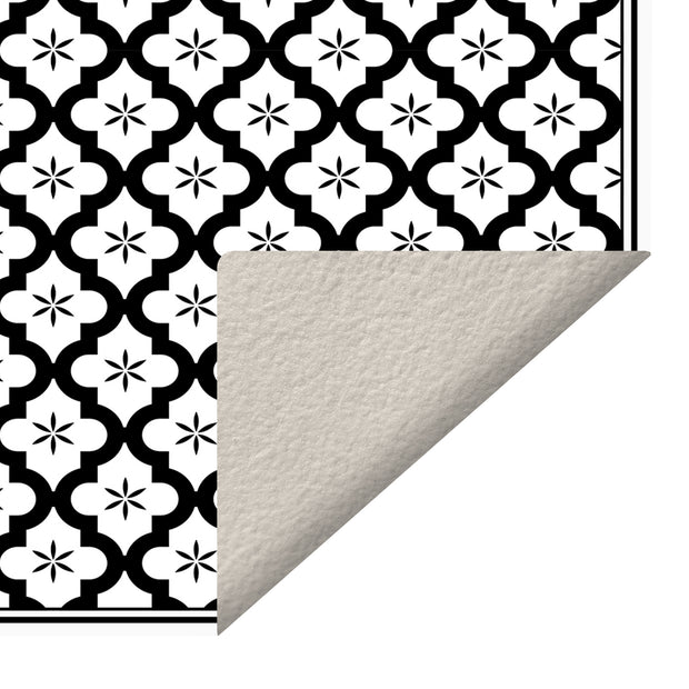 Ceramic Mosaic Tile Indoor Decorative Vinyl Floor Mat - 2' x 5'