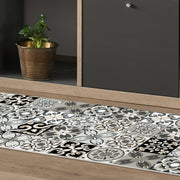 Ceramic Tile Pattern Decorative Vinyl Floor Mat - 2' x 5'