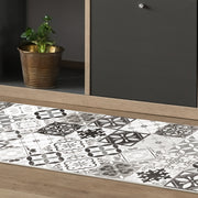 Classic Neutral Tile Pattern Indoor Vinyl Floor Mat - 2' x 5'