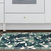 Exotic Tropical Leaf Pattern Vinyl Floor Mat - 2' x 5'