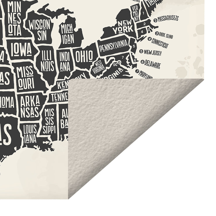 States Map of the USA Indoor Vinyl Floor Mat - 2' x 5'