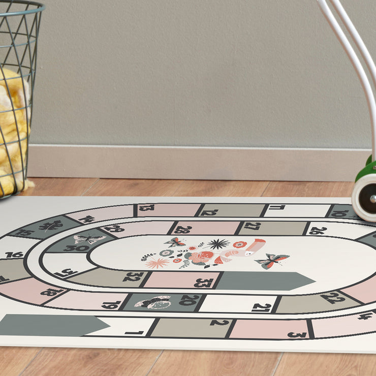 Kids Flamingo Floor Game Vinyl Floor Mat - 2' x 5'