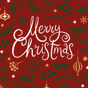 Merry Christmas Red Vinyl Floor Mat – 2' x 5'