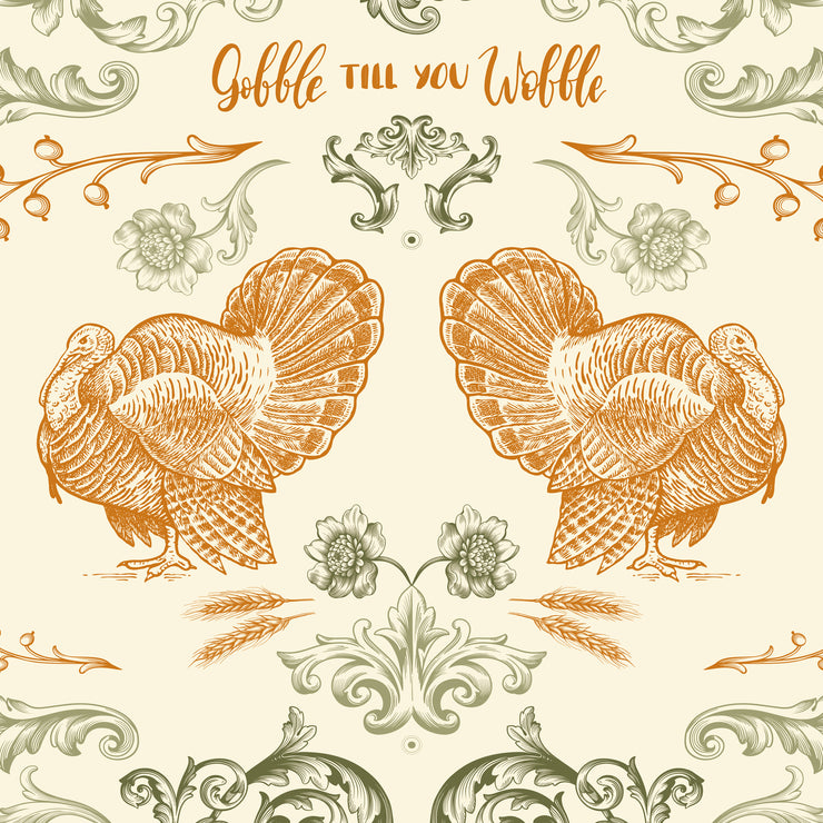 Gobble Till You Wobble Vinyl Floor Mat – 2' x 5'
