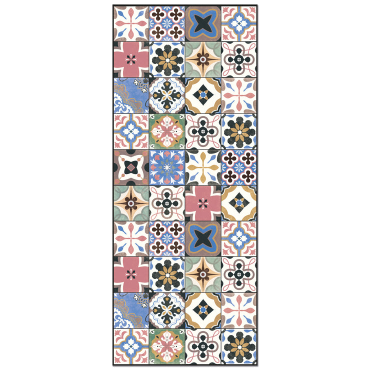 Tile Pattern Indoor Vinyl Floor Mat – 2' x 5'