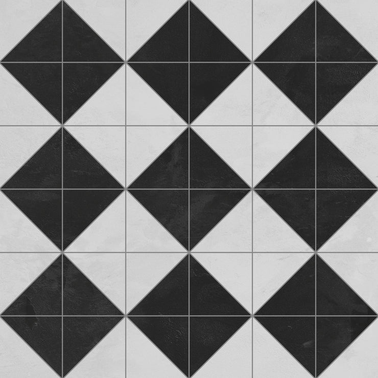 Decorative Vinyl Floor Mat Diamond Tile Pattern - 4.5' x 6.5'