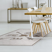 "Mosaic Decorative Vinyl Floor Mat ""Home"" - 4.5' x 6.5'"