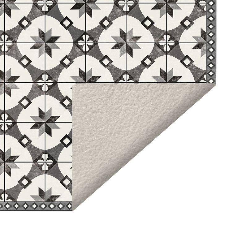 Ceramic Mosaic Tile Pattern Decorative Vinyl Floor Mat - 4.5' x 6.5'