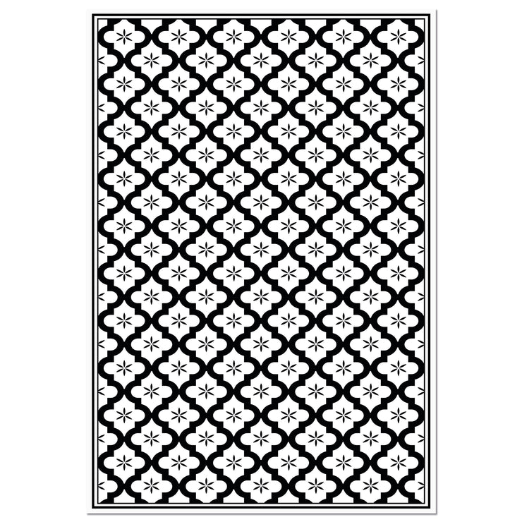 Ceramic Mosaic Tile Indoor Decorative Vinyl Floor Mat - 4.5' x 6.5'