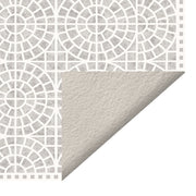 Classic Neutral Mosaic Tile Decorative Vinyl Floor Mat - 4.5' x 6.5'