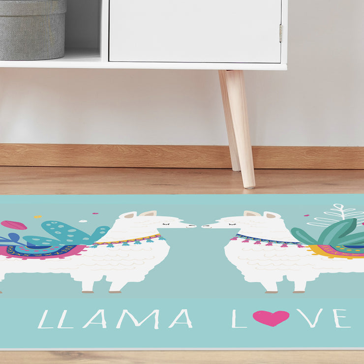 Llama Love Decorative Vinyl Floor Mat – 4.5' x 6.5'