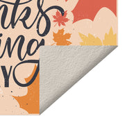 Thanksgiving Day Foliage Vinyl Floor Mat – 4.5' x 6.5'
