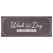 Wash and Dry Laundry Decorative Vinyl Floor Mat - 2' x 5'