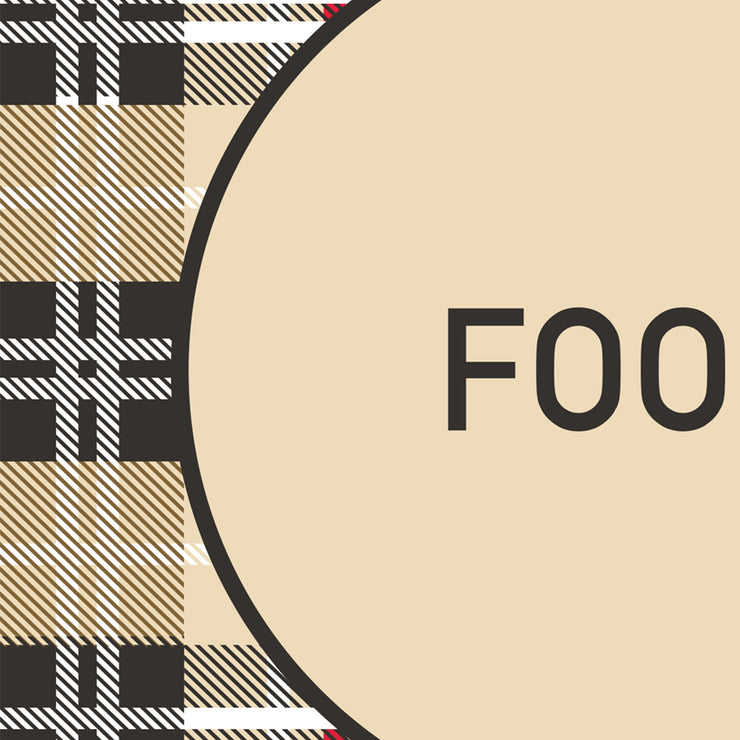 "Beige Plaid Food and Water Pet Decorative Floor Mat - 15.5"" x 23"""