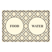 Moroccan Mosaic Pattern Food and Water Pet Floor Mat - 1.6' x 2.4'