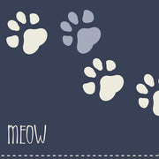 Blue Keep talking, I'll just MEOW Pet Floor Mat - 1.6' x 2.4'