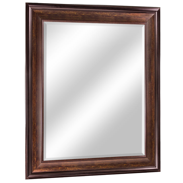Hartley Brown Beveled Wall Vanity Mirror