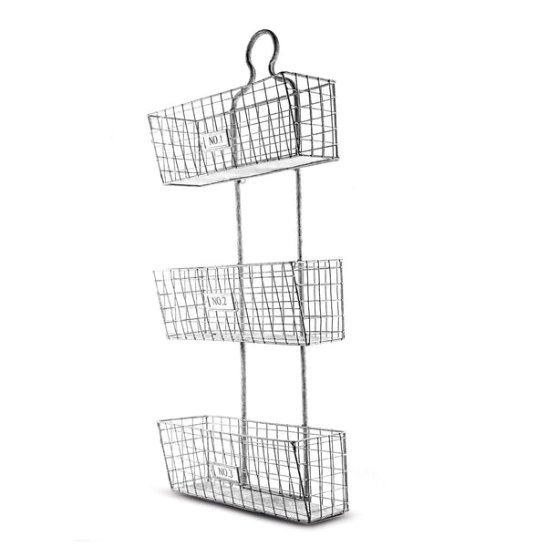 Three Tier Hanging Metal Wire Storage Baskets