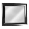 Bentley Black Beveled Wall Vanity Mirror