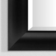 Leighton Black Beveled Vanity Wall Mirror