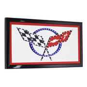 Chevrolet Corvette Logo Framed LED Sign