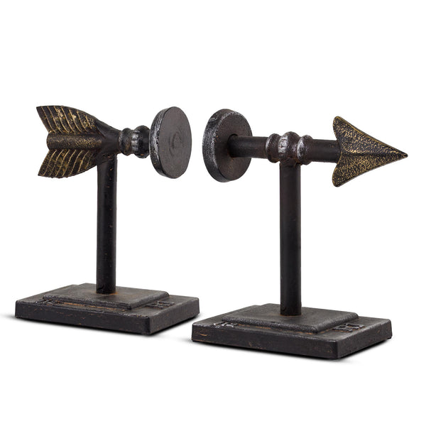 Metal Arrow Bookends (Set of 2)