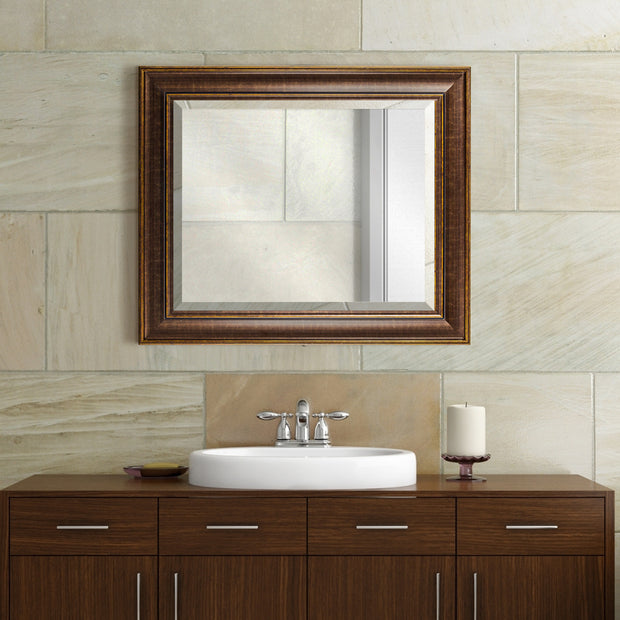 Bentley Bronze Beveled Wall Vanity Mirror