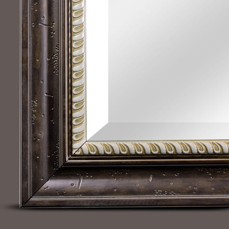 Leighton Brown Antiqued Wall Vanity Mirror