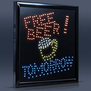 Free Beer Tomorrow Framed LED Sign