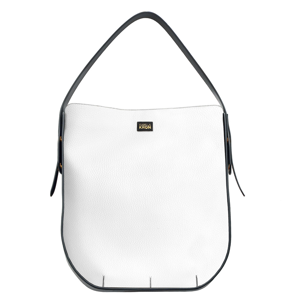 IMAGE OF IBBIE BAG LEATHER WHITE