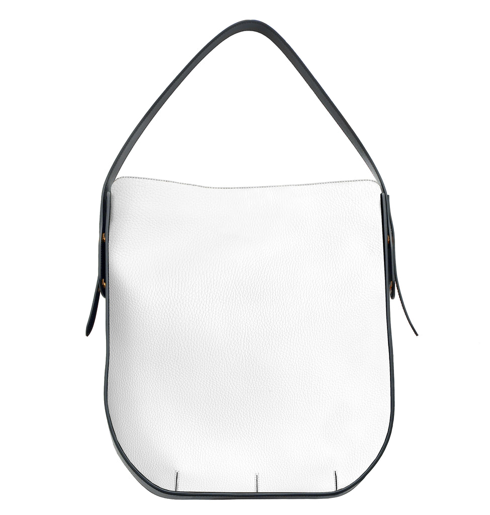 IMAGE OF BACK IBBIE BAG LEATHER WHITE