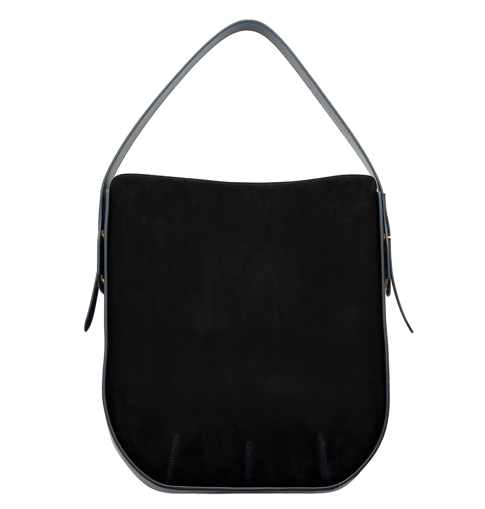 Image of IBBIE BAG SUEDE BLACK