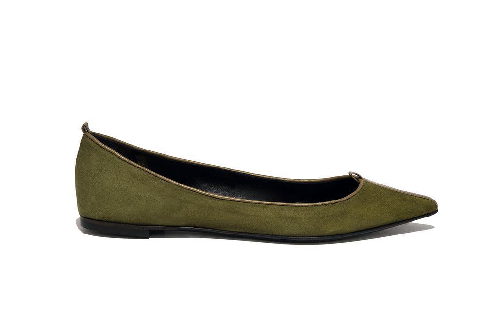 JULIE FLAT SUEDE PALUDE
