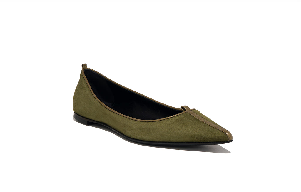 Image of JULIE FLAT SUEDE PALUDE
