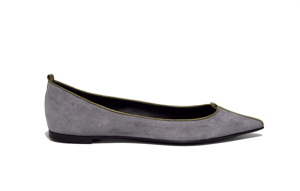 Image of JULIE FLAT SUEDE CREPUSCOLO
