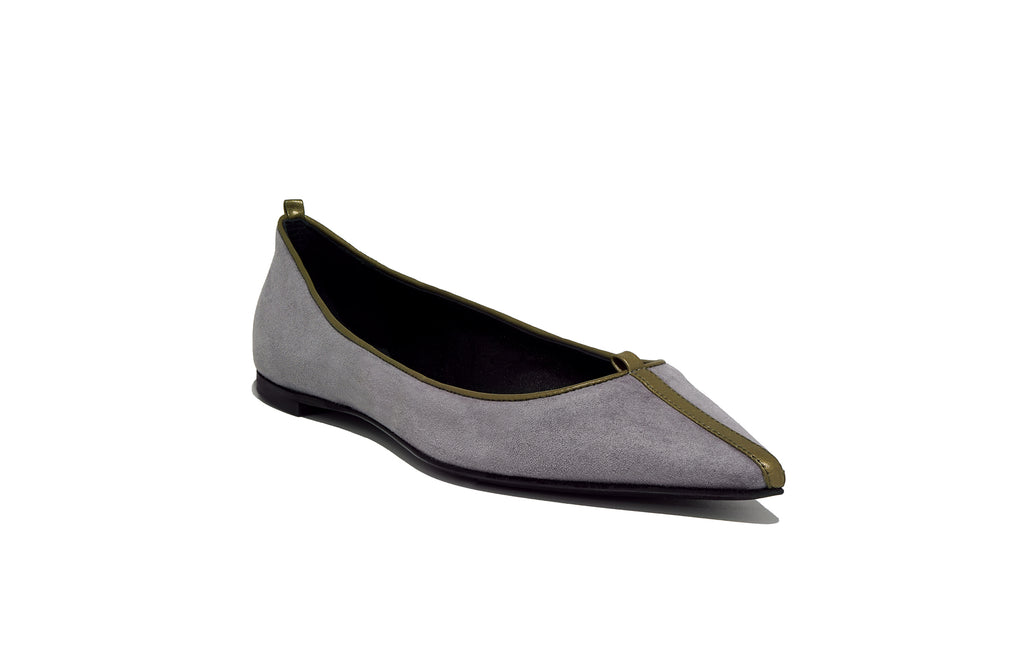 JULIE FLAT SUEDE CREPUSCOLO
