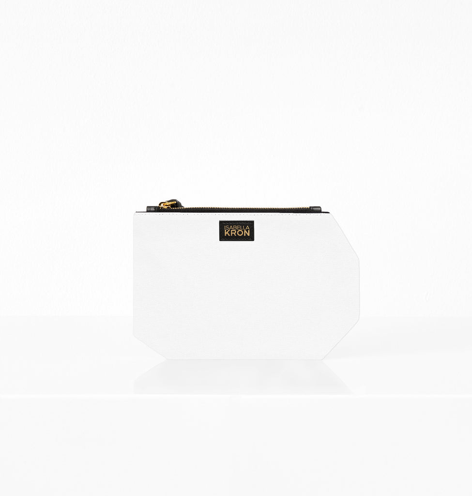 K CLUTCH CANVAS IVORY