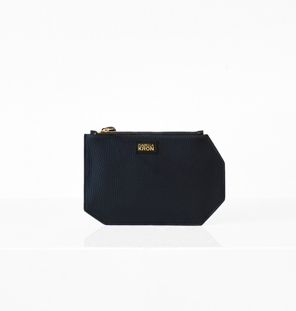 K CLUTCH LEATHER BLUE