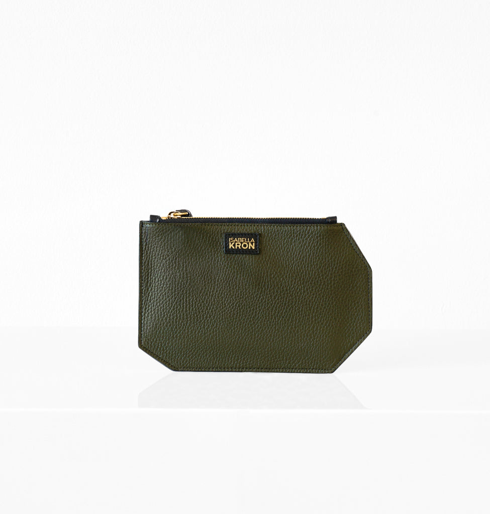 K CLUTCH LEATHER MILITARY