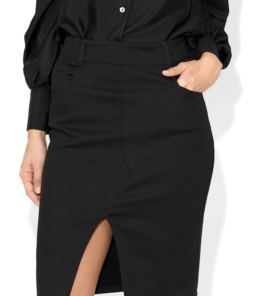 Close up Image of KATE SKIRT BLACK