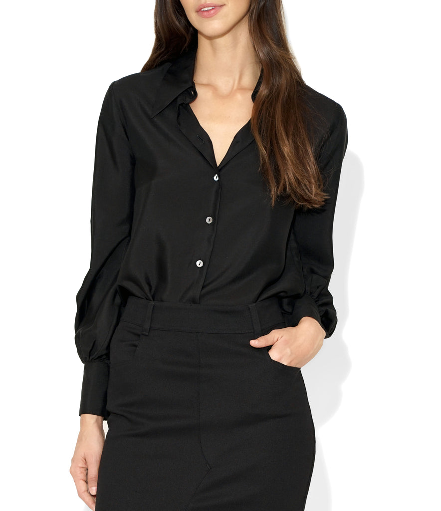 Image of Front LINDA SHIRT BLACK