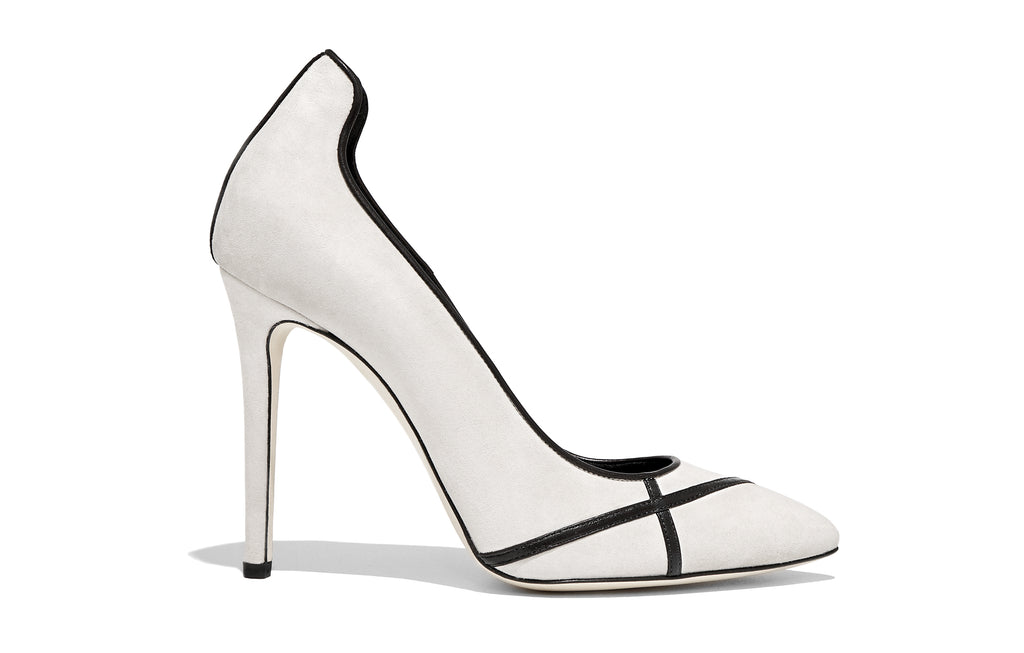 Image of MIRIAM ALBATROS OFF WHITE SUEDE PUMP Shoe