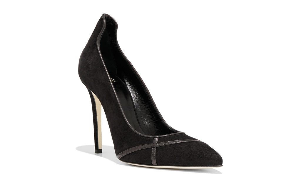 Image of MIRIAM BLACK SUEDE PUMP Shoe