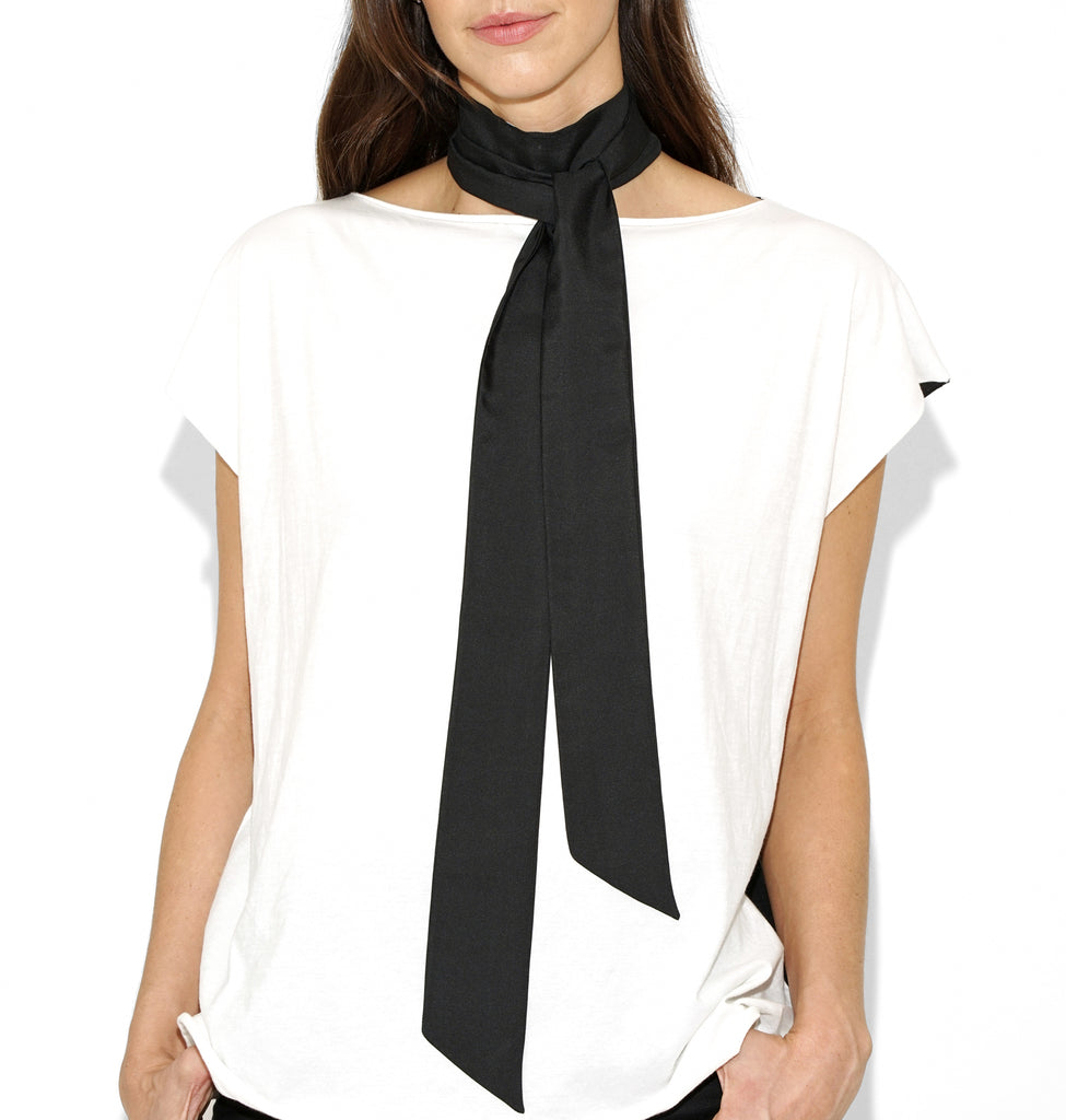 Image of NINA SILK SCARF BLACK
