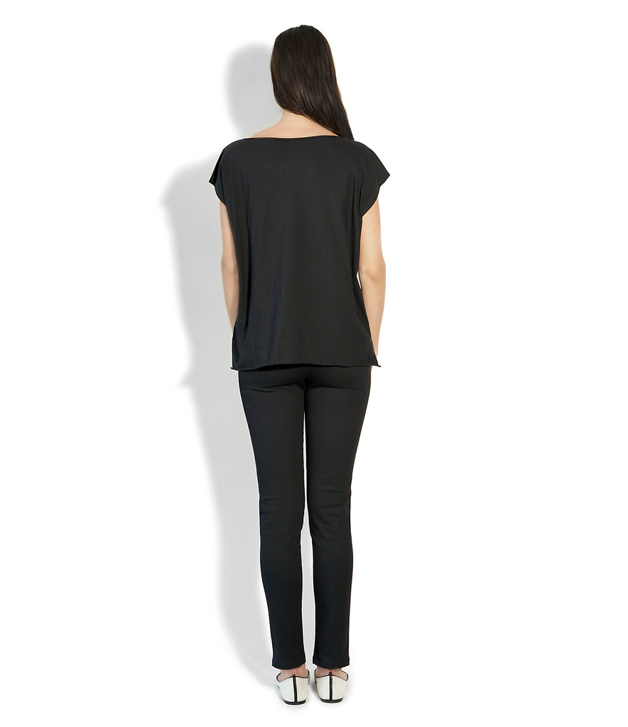 Image of Rear ROXANNE T-SHIRT BLUE/BLACK